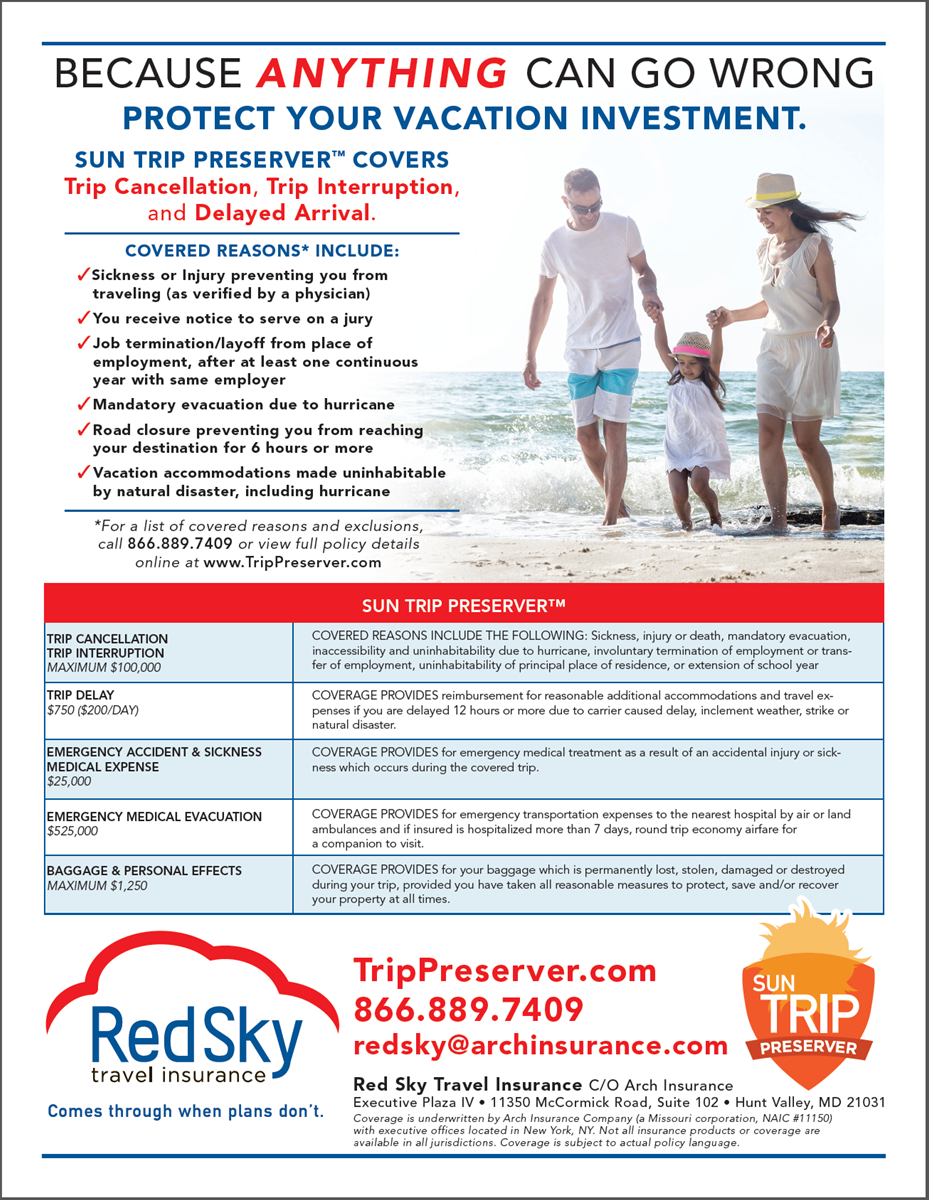 Red Sky Travel Insurance - Trip Presever